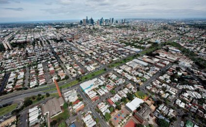 Aerial view of Melbourne from