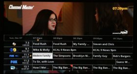 Channel Master DVR+ channel guide