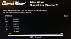 Channel Master DVR+ channel scan