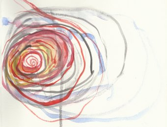 Janet Echelman, watercolor design
