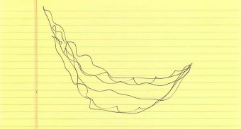 One of Echelman's very early sketches of the piece, on a legal pad. Image: Janet Echelman pen sketch
