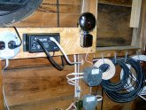 Mounted antenna in attic