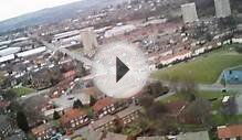 Aerial View of Pudsey Lowtown Leeds. AXN Floater Cloud Fly