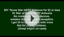DIY Texas Star HDTV Antenna under $2